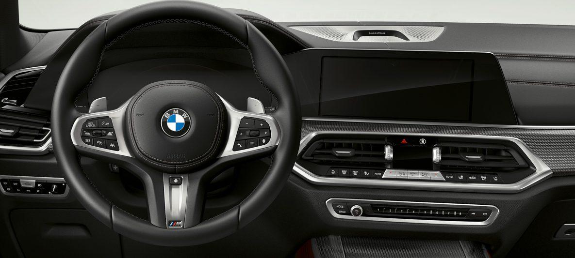 M Lederlenkrad BMW X5 M50i und M50d G05 Cockpit