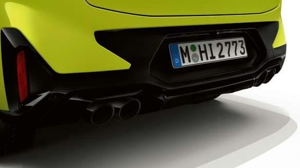 BMW X4 M Competition F98 LCI Facelift 2021 M Sportabgasanlage Heckansicht