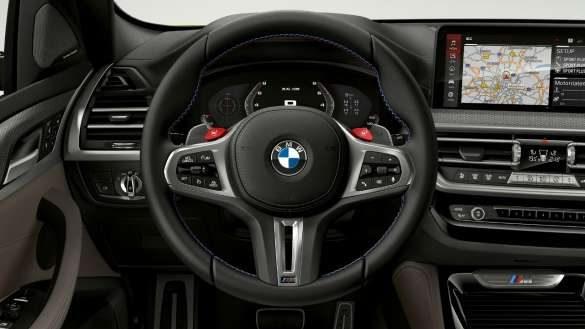 BMW X4 M F98 LCI Facelift 2021 M Servotronic Cockpit